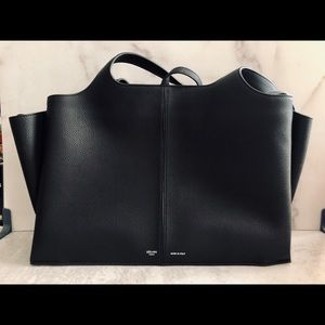 Celine TriFold Grained Calfskin Black Medium [NWT]